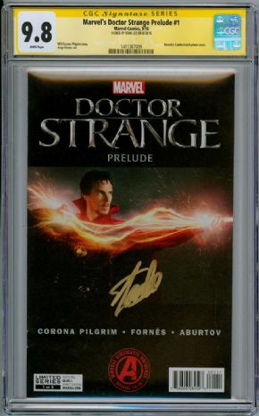 Doctor Strange Prelude  #1 CGC 9.8 Signature Series Signed Stan Lee Marvel Movie comic book